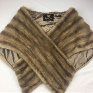 Vintage Mink Fur Stole Harris Furs Long Beach.